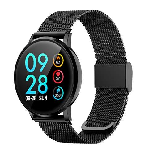 DK05 Reloj Inteligente, Smartwatch con Pulsómetro Pulsera Actividad Multifuncion Color Monitor Reloj Deportivo Monitor de Sueño Hombre Mujer niños (Negro)