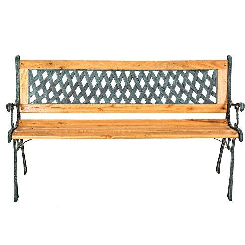"TecTake Gartenbank Parkbank Holz – diverse Modelle – (""Tamara"" 127 x 51 x 73cm | Nr. 401423) - 4"
