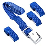 Pro Plus Befestigungsriemen für Fahrradträger blau 4er Set 40 cm Metallschnallen