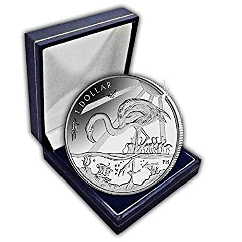 British Virgin Islands 2015 Majestic Flamingo Coin in a box by Pobjoy Mint Limited