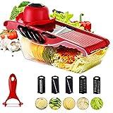 Gemüse Frucht Muti_Function Chopper, Mandoline Slicer Gemüseschneider Grater Slicer 5 Austauschbare Klingen Mit Schäler, Hand Schutz, Lebensmittel Speicherbehälter-Cutter Für