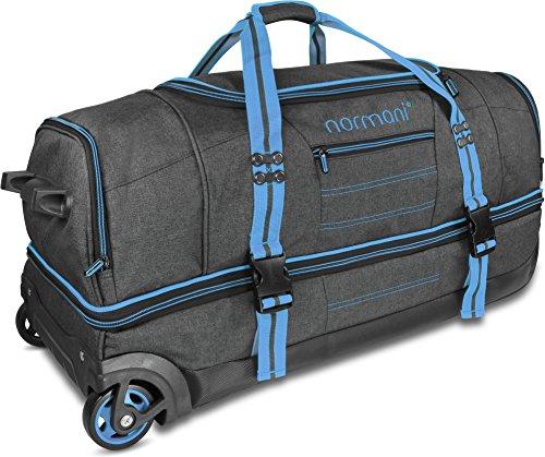 normani Reisetasche mit Rollen und großem Stauraum - mit Trolley-Funktion Farbe Blau Größe 90 Liter