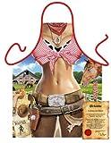 bedruckte Spaß Grillschürze - sexy Motiv: Cowgirl - coole Grillschürze Kochschürze Weihnachten Geburtstag Nikolaus Küche
