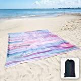 Sunlit Silky Soft Sandfree Beach Blanket Sand Proof Mat with Corner Pockets 213x185cm