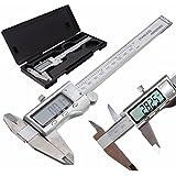 Pied à Coulisse, GOCHANGE 150 mm / 6 inch Étrier Numérique, Outil Micromètre Vernier en Acier Inoxydable avec Ecran LCD, Eteindre Automatique
