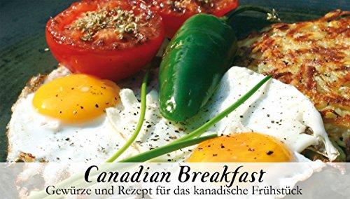 Canadian Breakfast - 8 Gewürze für das kanadische Frühstück (48g) - in einem schönen Holzkästchen - mit Rezept und Einkaufsliste - Geschenkidee für Feinschmecker - von Feuer & Glas (Kanadische Platte)