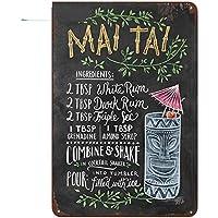 MinegRong 2 PiezasNuevo Martini y Mojito Cóctel Menú Cartel de Chapa Bar Decoración de Pared Club Artesanías de Metal Decoración para el hogar Placas de Pintura Cartel de Arte, 1038