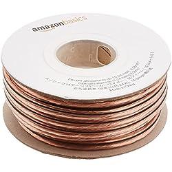 AmazonBasics Câble audio pour haut parleur Calibre 14 Section 2,08 mm² Longueur 15 m