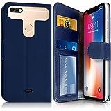 KARYLAX Etui Portefeuille Bleu (Ref.4-C) pour Smartphone Hisense F17 Pro