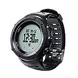 EZON H001H11 multifuncional senderismo reloj deportes al aire libre reloj digital con brújula / termómetro / barómetro / cronómetro / 5 ATM a prueba de agua