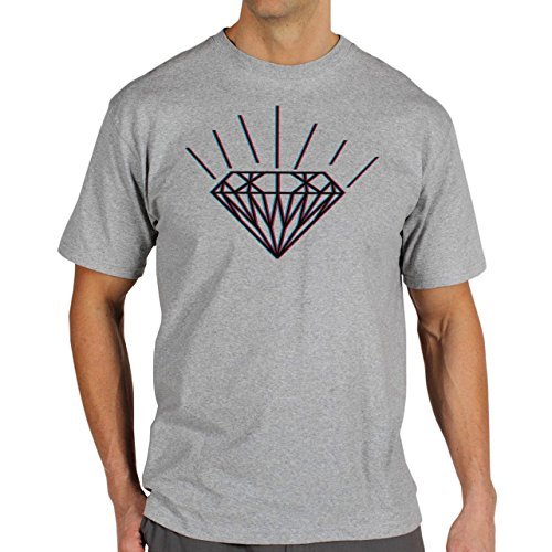 SWAG Diamond 3D Herren T-Shirt Grau