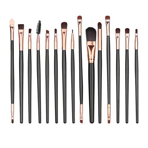 Sisit Ensemble de pinceaux de maquillage de 15 pièces, trousse de toilette de maquillage, ensemble de pinceaux de maquillage doux et facile pour les débutants (Noir, 11 11 Pièces)