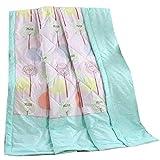 Yongyong Karikatur-Sommer-dünne Steppdecke-einzelne Mittagspause-abnehmbare Bettdecke 。 (Color : A, Size : 150cm*200cm)