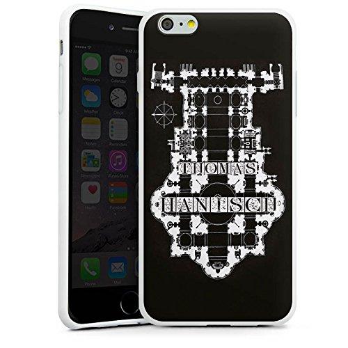 Apple iPhone X Silikon Hülle Case Schutzhülle Thomas Hanisch Schwarz Weiß Rock n Roll Silikon Case weiß
