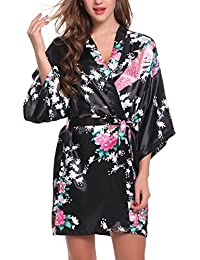 ADORNEVE Women's Sexy Bathrobe Sleepwear Intimate Lingerie Robe