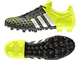 adidas Performance Ace 15.3 FG/AG, Herren Fußballschuhe, Schwarz (Core Black/Ftwr White/Solar Yellow), 42 2/3 EU (8.5 Herren UK)