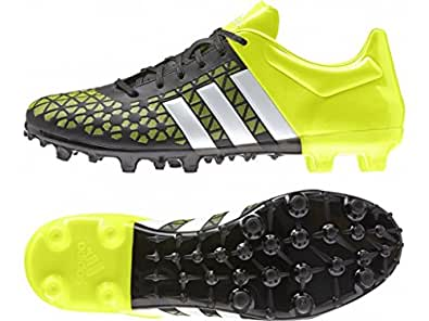 Adidas Men's Ace 15.3 FG/AG Black, White and Yellow Football Shoes - 6 UK