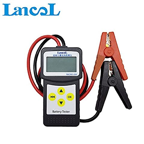 Battery Tester, Greshare 12V 100-2000CCA 30-200mAh Automotive Load Battery Tester Digital Analyzer Test Tool with USB for Printing.