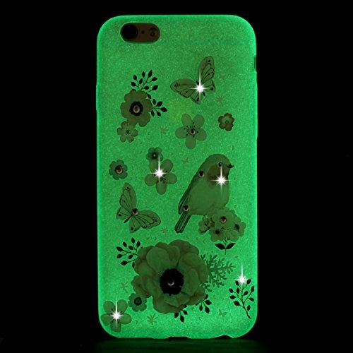 Coque iPhone 7, Etui iPhone 7 Silicone, SpiritSun Etui Coque TPU Slim Bumper pour Apple iPhone 7 (4.7 pouces) Souple Lumineux Etui Housse de Protection Flexible Soft Case Cas Couverture Anti Choc Minc Papillon