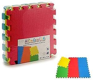 Ar- Alfombra-Puzzle Goma eva 9 pzas-90x90cm Colores (18962)