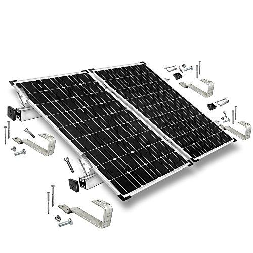 Offgridtec© Befestigungs-Set für 2 Solarmodule - für Bieberschwanz Ziegel
