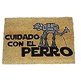 koko doormats - Felpudos Originales y Divertidos para la Entrada de casa - Cuidado con el AT - PVC, Coco, 40 x 60 cm