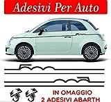Sardegna Services Set Streifen für FIAT 500 Abarth Tuning Bande ADESIVE Stickers Auto Zubehör Stickers Decal