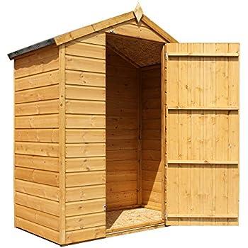 Green Planet UK - 3x6 Garden Storage Shed, Wooden Shiplap