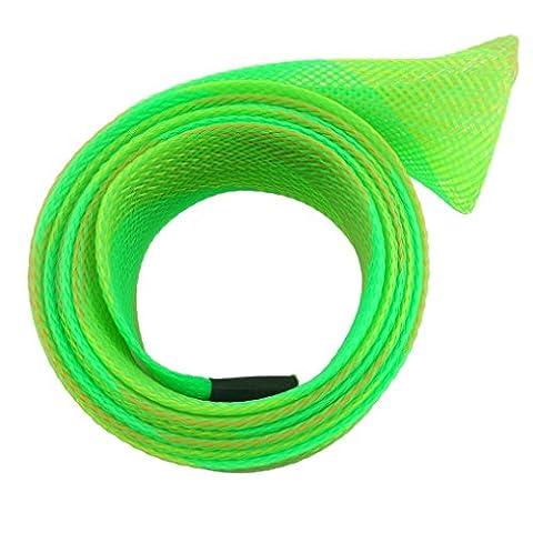 Hunpta populaire Jetant Canne à pêche tressé Sleeve Gant Housse de protection, Green