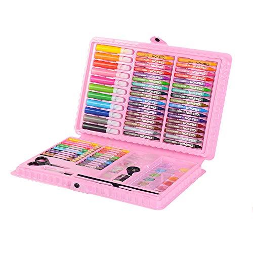 Deluxe Organizer Kurze Tasche (ZXYWW Malutensilien Zum Malen Und Zeichnen, 109-Tlg. Malutensilien Für Kinder Skizzieren Und Zeichnen Griff Art Box Deluxe Art Set Für Kinder,Pink)