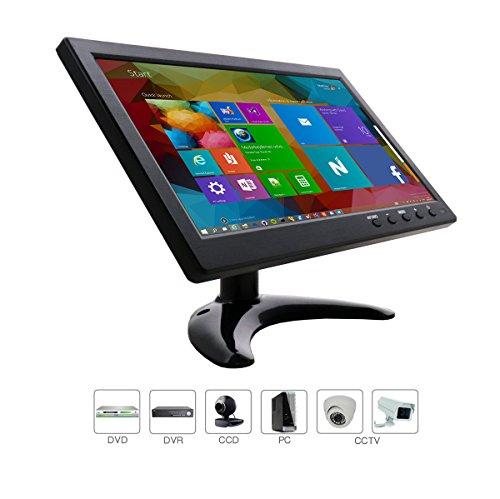 10.1 Zoll CCTV HDMI Monitor 1280*800 IPS TFT LCD mit IPS/AV/VGA/HDMI/BNC Earphone Eingebauter Lautsprecher, für Raspberry Pi, CCTV Kamera, PC-Anzeige, Durch wholev