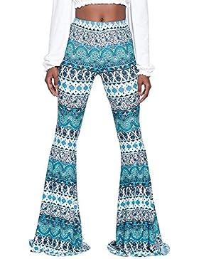 Juleya Pantalones Bootcut Mujer Pantalones Casual Cintura Alta Pantalones Acampanados Elegantes Pantalones cómodos...