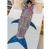 XILIUHU Decke schlafen Wickeln Fernseher Sofa Mermaid Schwanz Decke Kinder Adult Baby gehäkelte Tasche Betten, 1.120 cm