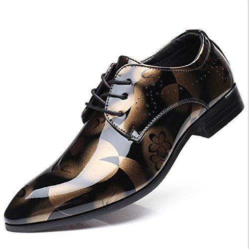Gfp 2018 Frühling und HerbstMen's Leder Oxford Schuhe Klassische Lace up Schuhe mit Hand Genäht & geklebt Sohlen Formal Business Arbeit Bequeme Mokassins (Farbe : D) -