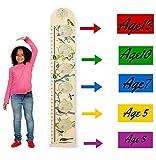 Altezza Crescita di Misura Grafico per Bambini- Righello di Legno da Appendere per Bambini - Facile da Spostare, Ripiegabile, Decalcomania Stanza del Bebé da HAPPYBABY-HAPPYYOU con Cornici per Foto