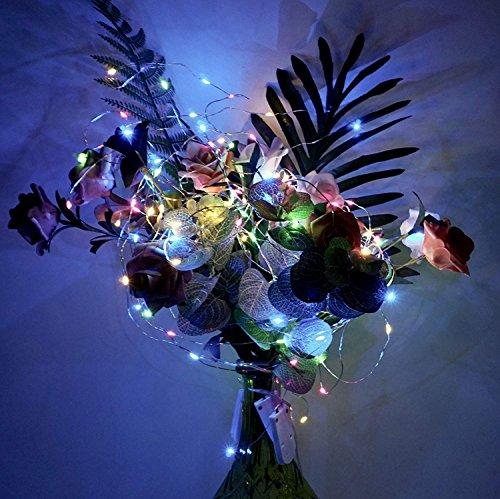 【10 pezzi】 SiFar 20 LED 2M Mini Lampada a fili di rame Multicolore, Luci stringa LED Luci d'atmosfera Bottiglia di vino, Luci stellate alimentate a batteria per bottiglie Fai da te, feste - 7