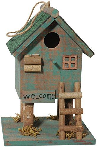 dobar 25102Solar Nido Pájaro con lámpara solar, Pájaro decorativo caja Nido para...