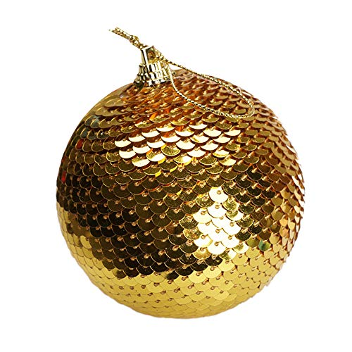 LILIGOD Weihnachtsbaumkugel 8CM Weihnachten Pailletten Glitter Kugeln Weihnachtsbaum Ornament Dekoration Weihnachtskugeln Christbaumschmuck Weihnachten Deko Anhänger