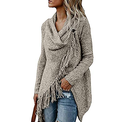 Mujeres Jersey Cardigan Mujer Invierno Suéter Poncho