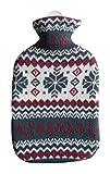 Wärmflasche 2 L Winter Oeko-Tex®100 Reißverschluss Flocke