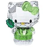 Swarovski 5004741 Hello Kitty Glücksklee Figur Glas 3,7 x 5 x 2,8 cm, Transparent/grün/Schwarz/Gelb