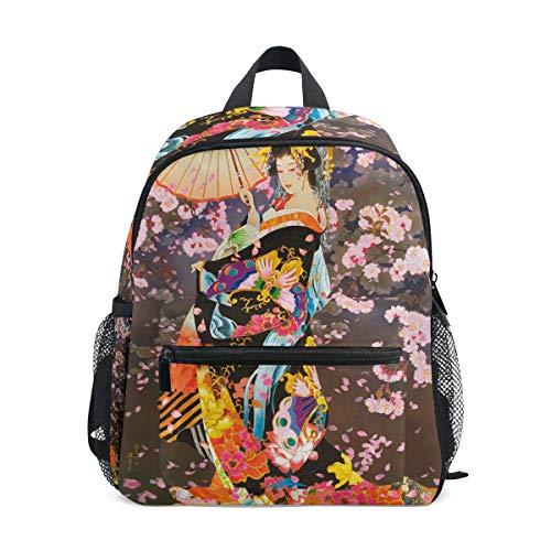 Lupinz splendida ragazza giapponese geisha sotto il chiaro di luna per bambini pre-scuola materna zaino