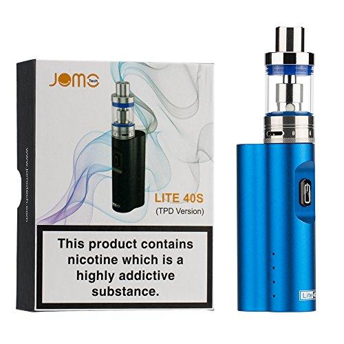 Sigaretta Elettronica 40W Kit, JOMO TECH Lite 40S Sigarette Elettroniche 2200mAh Batteria SS 0.5oHm Resistenza/2.0ml Atomizzatore - Senza Liquido E-cigs, Senza Nicotina né Tabacco (Blu)