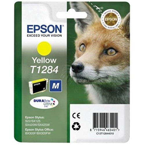 Epson T1284 Fuchs, wisch- und wasserfeste Tinte (Singlepack) gelb -