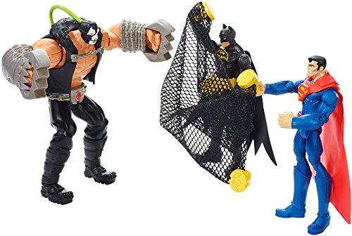 Mattel – Batman Unlimited – Bane VS Batman & Superman – Pack 3 Figurines Articulées 25-30 cm