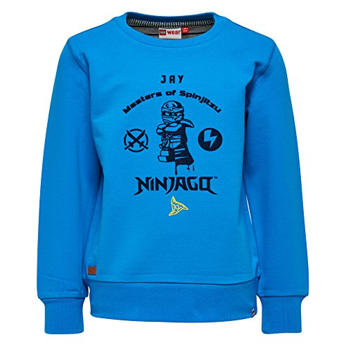 LEGO Wear Jungen Ninjago Saxton 302-Sweatshirt, Blau (Blue 542), 134 Preisvergleich