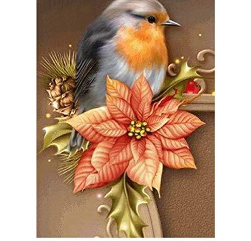 lyxcyz mestieri ricamo diamante pieno fiore ricamo fai da te diamante kit pittura diamante punto croce uccello e motivo bouganville 50 * 70 cm