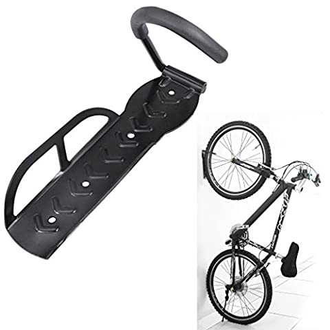 Gesù de vélo à fixation murale de stockage de support de roue avant Crochet de suspension pour vélo vertical Cintre Crochet avec vis pour garage