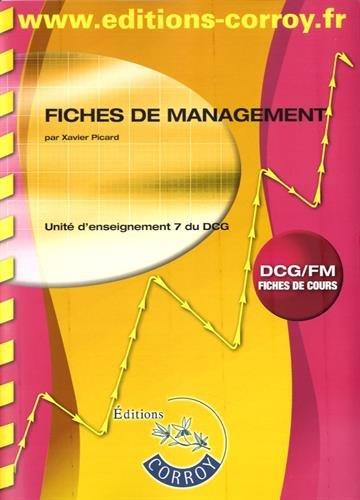 Fiches de management: UE 7 du DCG