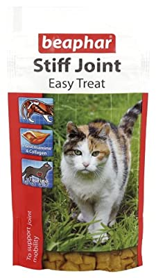 E28 Beaphar Stiff Joint Easy Treat for Older Cats 35g with Glucosamine & Collagen